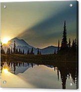 Tipsoo Rainier Sunstar Acrylic Print