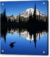 Tipsoo Sunrise Acrylic Print by Mark Kiver