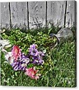 Tipsy Flowers Acrylic Print
