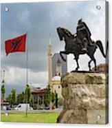 Tirana, Albania. Skanderbeg Square Acrylic Print