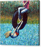 Tire Swing Acrylic Print by Ned Shuchter