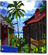 Tiririca Beach Shacks Acrylic Print