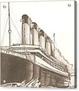 Titanic Drawing Acrylic Print