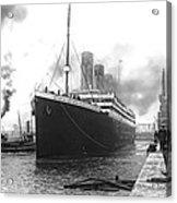 Titanic In Southampton Harbor Acrylic Print