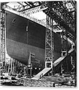 Titanic Under Construction Acrylic Print