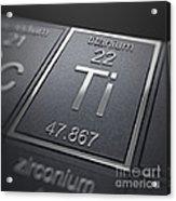 Titanium Chemical Element Acrylic Print
