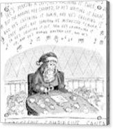 Title: Obsessive-compulsive Santa. Santa Is Shown Acrylic Print