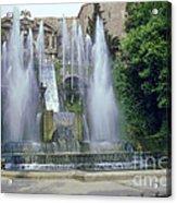 Tivoli Garden Fountain Acrylic Print