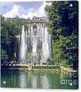 Tivoli Garden Fountain Reflection Acrylic Print