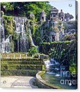 Tivoli Garden Fountains Acrylic Print
