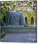 Tivoli Gardens Fountain And Pool Acrylic Print