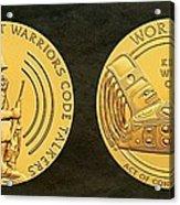 Tlingit Tribe Code Talkers Bronze Medal Art Acrylic Print