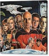 Tng Crew Season 1 Acrylic Print by Jonathan W Brown