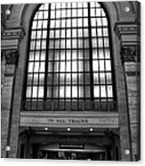 To All Trains Chicago Union Station Acrylic Print