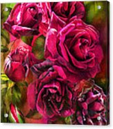 To Be Loved - Red Rose Acrylic Print