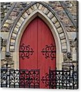 Red Door To Heavens Gates Acrylic Print