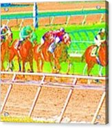 To The Finish Line Acrylic Print