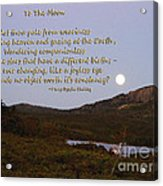 To The Full Moon Acrylic Print
