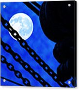 To The Moon Alice Acrylic Print by Mike Flynn