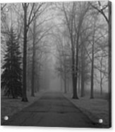 To Where It Leads  Bw Acrylic Print