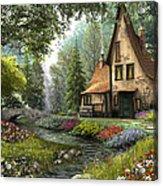 Toadstool Cottage Acrylic Print
