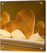 Toast Hearts With Butter Acrylic Print