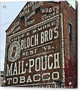 Tobacciana - Mail Pouch Tobacco Acrylic Print
