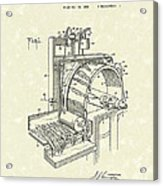 Tobacco Machine 1932 Patent Art Acrylic Print