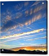 Tobacco Root Mountains At Sunset 1 Acrylic Print