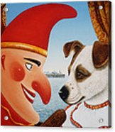Toby And Punch, 1994 Oils And Tempera On Panel Acrylic Print