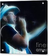 Toby Keith Fractal-1 Acrylic Print