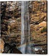 Toccoa Falls With Rainbow Acrylic Print