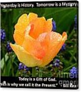 Today Is A Gift Of God Acrylic Print