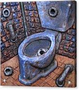 Toilet Stories #9 Acrylic Print by Carlos Enrique Prado