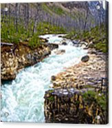 Tokuum Creek Flowing Into Marble Canyon In Kootenay Np-bc Acrylic Print