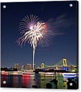 Tokyo Bay Fireworks Acrylic Print