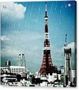 Tokyo Eiffel  Acrylic Print by Natalya Karavay
