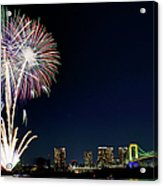 Tokyo Fireworks Acrylic Print