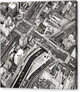 Tokyo Intersection Black And White Acrylic Print