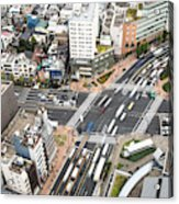 Tokyo Streets From Above Acrylic Print