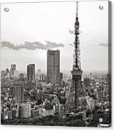 Tokyo Tower And The Zozo-ji Temple Acrylic Print