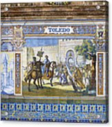 Toledo In The Province Alcove Of The Plaza De Espana Acrylic Print