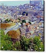 Toledo Spain In Blue Acrylic Print