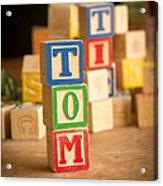 Tom - Alphabet Blocks Acrylic Print
