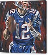 Tom Brady Acrylic Print by David Courson