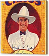 Tom Mix On 1937 Poster Art Promoting Acrylic Print