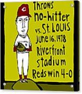 Tom Seaver Cincinnati Reds Acrylic Print
