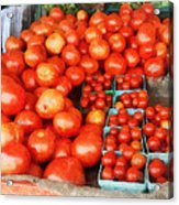 Tomatoes For Sale Acrylic Print