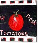 Tomatoes Market Sign Acrylic Print