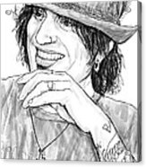 Tommy Lee Art Drawing Sketch Portrait Acrylic Print